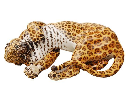 """Фарфоровая фигурка """"Леопард""""   производства Nymphenburg купить в онлайн магазине beau-vivant.com"""