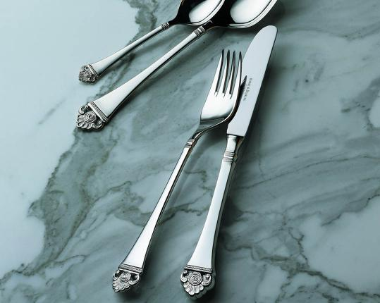 Набор на 6 персон из 30 предметов Rosenmuster (серебро) производства Robbe & Berking купить в онлайн магазине beau-vivant.com