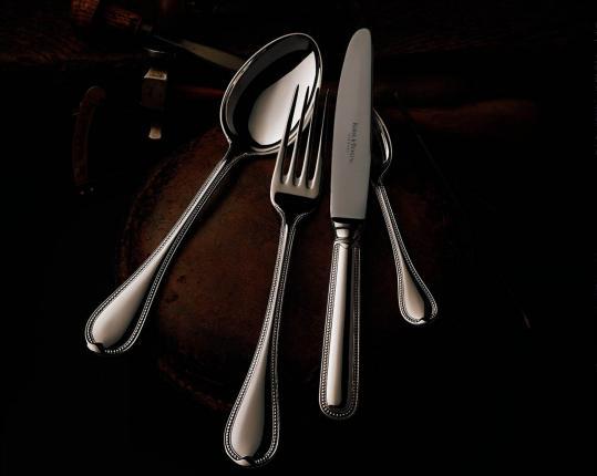 Набор на 6 персон из 30 предметов Französisch-Perl (серебро) производства Robbe & Berking купить в онлайн магазине beau-vivant.com