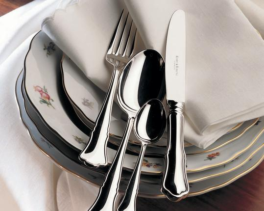 Набор на 6 персон из 30 предметов Alt-Chippendale (серебро) производства Robbe & Berking купить в онлайн магазине beau-vivant.com