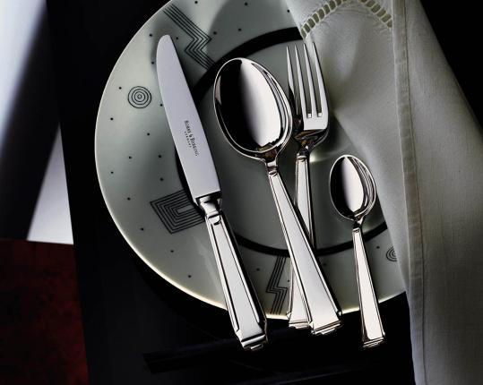 Набор на 6 персон из 30 предметов Art Deco (посеребрение) производства Robbe & Berking купить в онлайн магазине beau-vivant.com