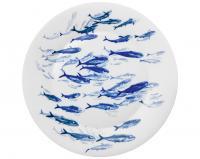 Подстановочная тарелка Ocean 37 см (косяк сельди)