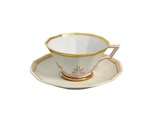 Чашка чайная с блюдцем Perl Europa 160 мл производства Nymphenburg купить в онлайн магазине beau-vivant.com
