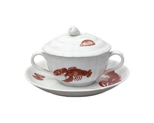 Чашка суповая Mare Nostrum 300 мл (с блюдцем и крышкой) производства Nymphenburg купить в онлайн магазине beau-vivant.com