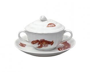 Чашка суповая Mare Nostrum 300 мл (с блюдцем и крышкой)