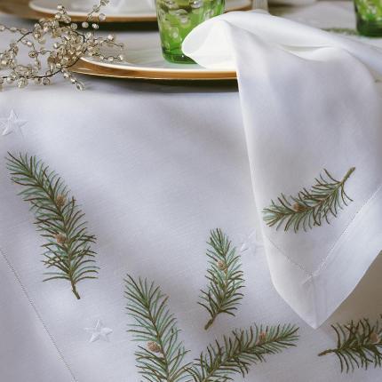 Скатерть Hohlsaum 180 x 180 см производства ERI Textiles купить в онлайн магазине beau-vivant.com
