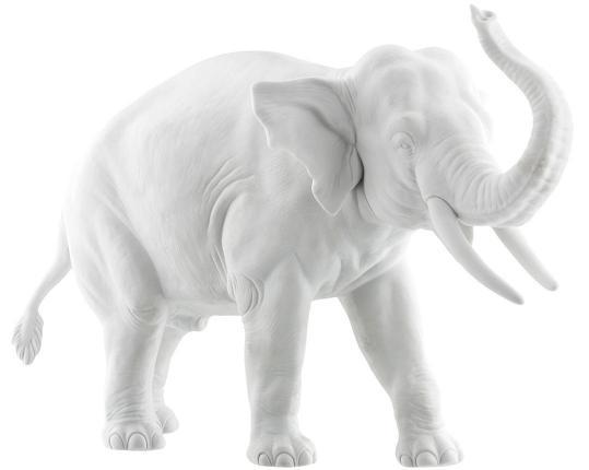 """Фарфоровая фигурка """"Слон"""" 811аQ производства Nymphenburg купить в онлайн магазине beau-vivant.com"""