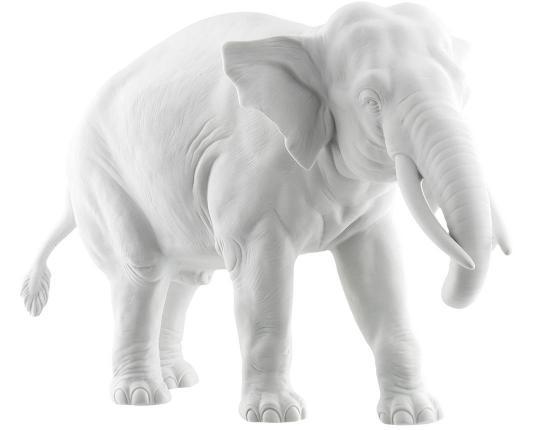 """Фарфоровая фигурка """"Слон"""" 811bQ производства Nymphenburg купить в онлайн магазине beau-vivant.com"""