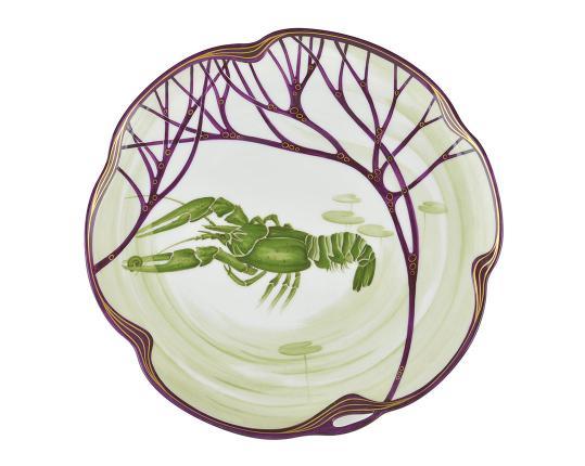 Тарелка Belle Epoque 24 см (омар) производства Nymphenburg купить в онлайн магазине beau-vivant.com