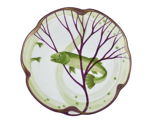 Тарелка Belle Epoque 24 см (форель) производства Nymphenburg купить в онлайн магазине beau-vivant.com