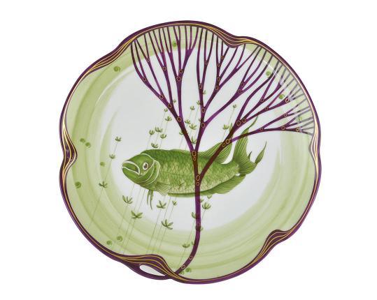 Тарелка Belle Epoque 24 см (макропод) производства Nymphenburg купить в онлайн магазине beau-vivant.com
