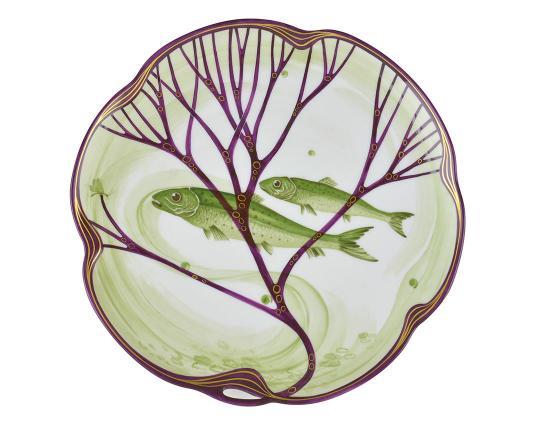 Тарелка Belle Epoque 24 см (элопсы) производства Nymphenburg купить в онлайн магазине beau-vivant.com