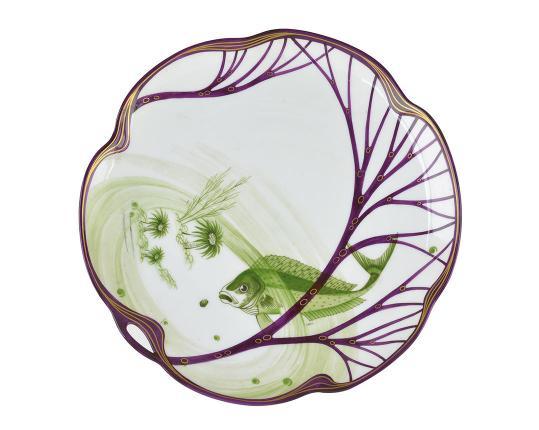 Тарелка Belle Epoque 24 см (скумбрия) производства Nymphenburg купить в онлайн магазине beau-vivant.com