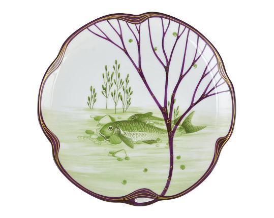 Тарелка Belle Epoque 24 см (пескарь) производства Nymphenburg купить в онлайн магазине beau-vivant.com