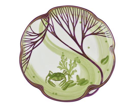 Тарелка Belle Epoque 24 см (краб) производства Nymphenburg купить в онлайн магазине beau-vivant.com
