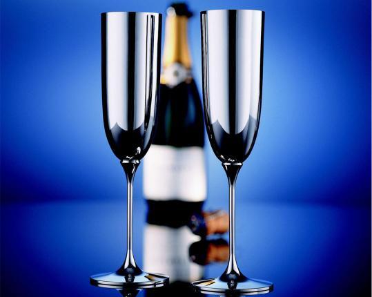 Бокал для шампанского Alta (посеребрение) производства Robbe & Berking купить в онлайн магазине beau-vivant.com