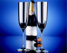 Бокал для шампанского Alta (серебро)