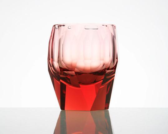 Стакан для виски Cubism 220 мл (розалин) производства Moser купить в онлайн магазине beau-vivant.com