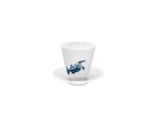 Кружка без ручки с блюдцем Ocean 180 мл (спинорог) производства Hering Berlin купить в онлайн магазине beau-vivant.com