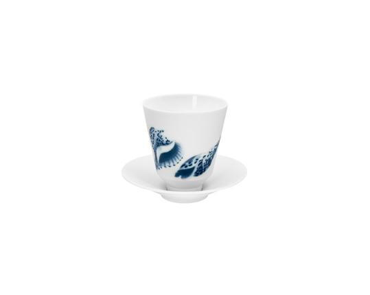 Кружка без ручки с блюдцем Ocean 180 мл (ракушки 03) производства Hering Berlin купить в онлайн магазине beau-vivant.com