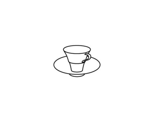 Чашка с блюдцем для эспрессо Granat 50 мл производства Hering Berlin купить в онлайн магазине beau-vivant.com