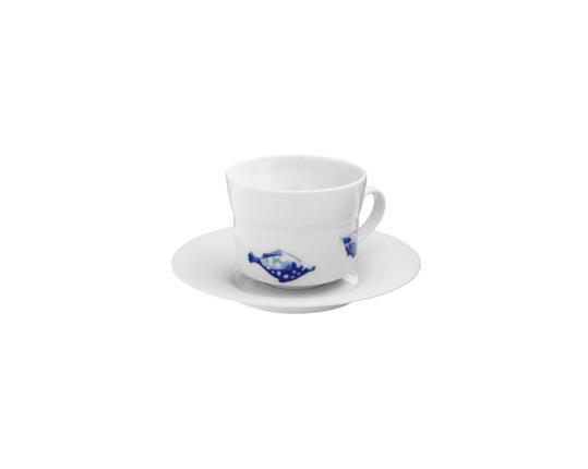 Чашка с блюдцем для капучино Ocean 250 мл (спинорог) производства Hering Berlin купить в онлайн магазине beau-vivant.com