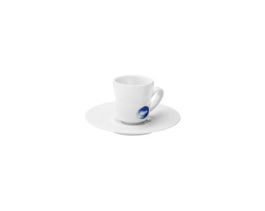 Чашка с блюдцем для эспрессо Ocean 75 мл (ракушки) производства Hering Berlin купить в онлайн магазине beau-vivant.com