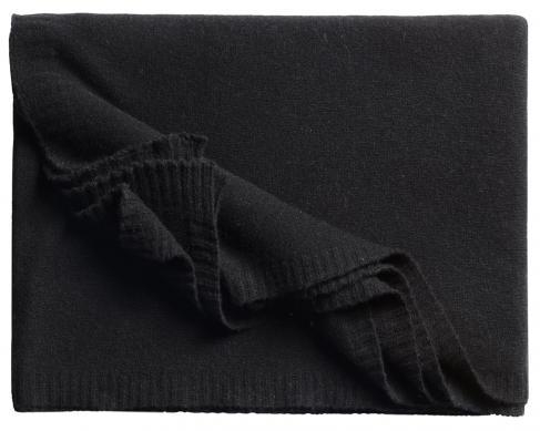 Кашемировый плед Biella 1 (чёрный)