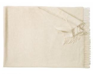 Плед из шерсти ягнёнка Boston (белый)