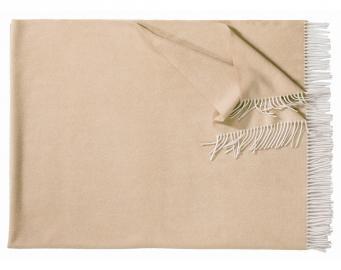 Плед из шерсти ягнёнка Boston (камель)