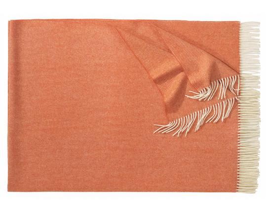 Плед из шерсти ягнёнка Boston (оранжевый) производства Eagle Products купить в онлайн магазине beau-vivant.com
