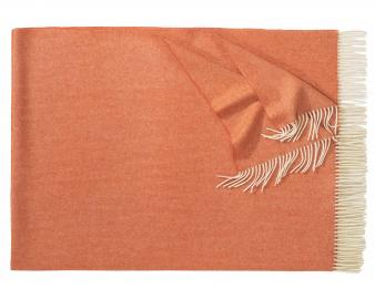 Плед из шерсти ягнёнка Boston (оранжевый)
