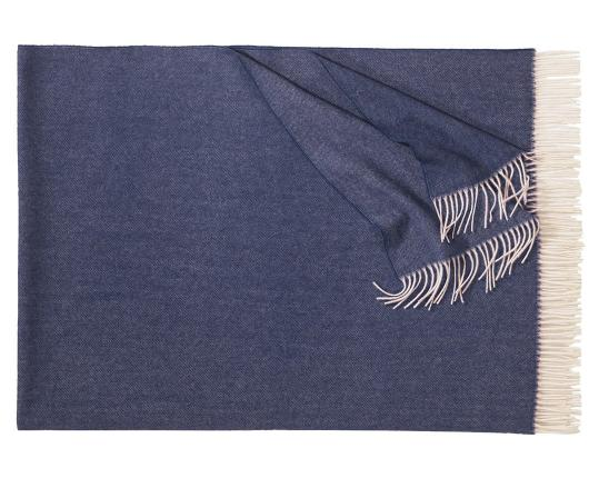 Плед из шерсти ягнёнка Boston (тёмно-синий)  производства Eagle Products купить в онлайн магазине beau-vivant.com
