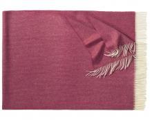 Плед из шерсти ягнёнка Boston (бордовый)