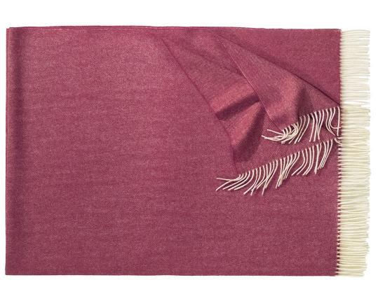 Плед из шерсти ягнёнка Boston (бордовый) производства Eagle Products купить в онлайн магазине beau-vivant.com