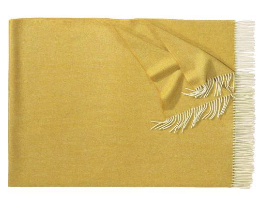 Плед из шерсти ягнёнка Boston (карри) производства Eagle Products купить в онлайн магазине beau-vivant.com