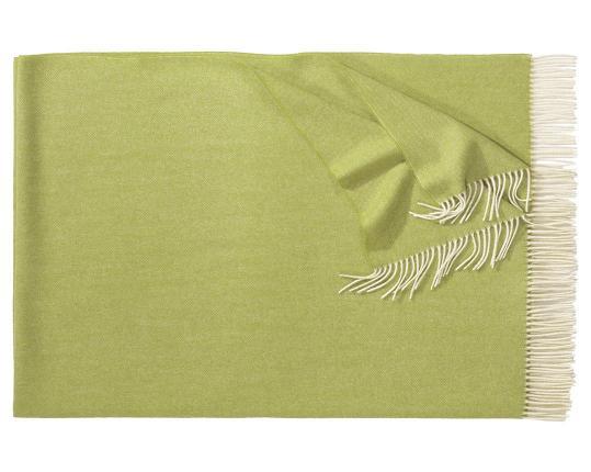 Плед из шерсти ягнёнка Boston (светло-зелёный) производства Eagle Products купить в онлайн магазине beau-vivant.com