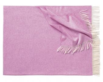Плед из шерсти ягнёнка Boston (розовый)
