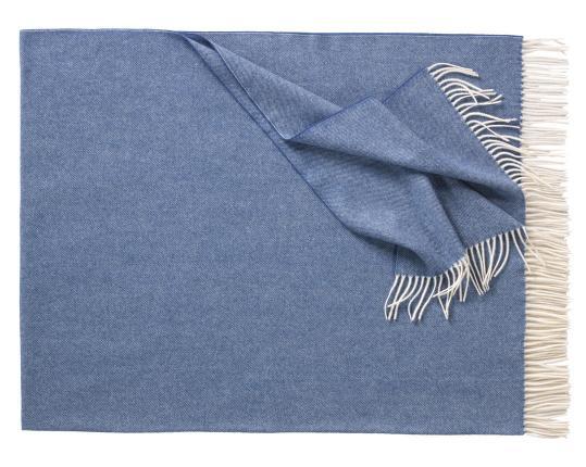Плед из шерсти ягнёнка Boston (деним) производства Eagle Products купить в онлайн магазине beau-vivant.com