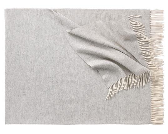 Плед из шерсти ягнёнка Boston (серебристый) производства Eagle Products купить в онлайн магазине beau-vivant.com
