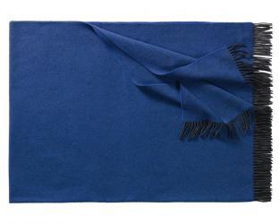 Плед из шерсти ягнёнка Boston (синий)