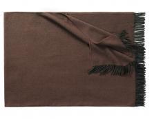 Плед из шерсти ягнёнка Boston (коричневый)