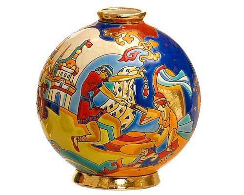 Шарообразная ваза Danse magique 18 см производства Emaux de Longwy купить в онлайн магазине beau-vivant.com