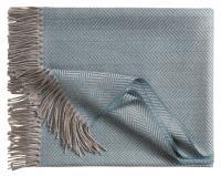 Шерстяной плед Denver, серо-голубой