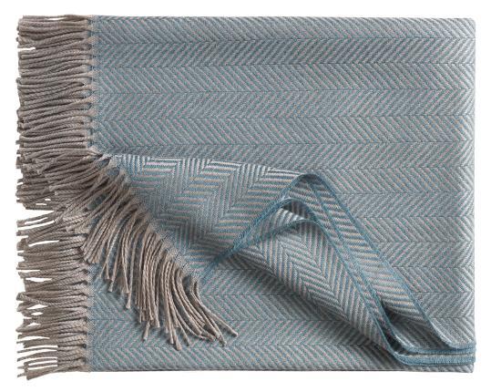 Шерстяной плед Denver, серо-голубой производства Eagle Products купить в онлайн магазине beau-vivant.com