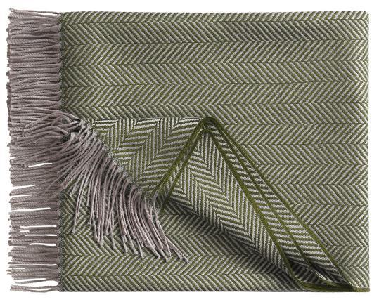 Шерстяной плед Denver, серо-зелёный производства Eagle Products купить в онлайн магазине beau-vivant.com