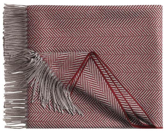 Шерстяной плед Denver, серо-красный производства Eagle Products купить в онлайн магазине beau-vivant.com