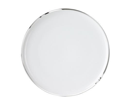 Тарелка закругленная Treasure Platinum 29 см производства Sieger by Fürstenberg купить в онлайн магазине beau-vivant.com