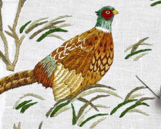 Скатерть Fasan Weiss 180 см х 180 см производства ERI Textiles купить в онлайн магазине beau-vivant.com