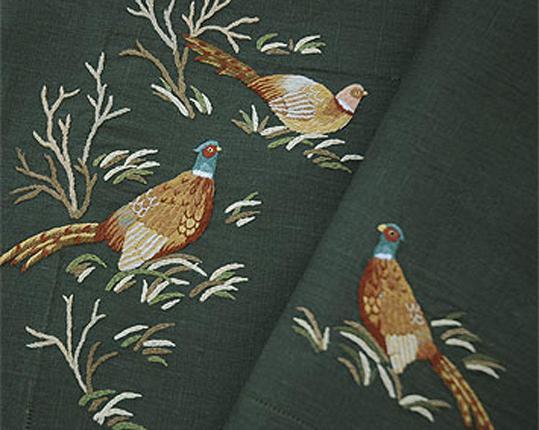 Скатерть Fasan 180 см х 180 см  производства ERI Textiles купить в онлайн магазине beau-vivant.com